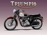 Triumph Bike - Metal Tabela
