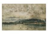 Lake Lucerne, Switzerland Giclee Print by Rudolf von Alt