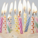 Birthday Candles on Cake Photographic Print by Jamie Grill