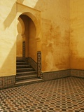 Interior Coutyard of Moulay Ismail Mausoleum Photographic Print by John & Lisa Merrill