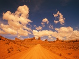 Road and sandstone formations, Valley of the Gods, Arizona, USA Photographic Print by Frank Krahmer