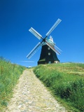 Windmill in Mecklenburg-West Pomerania (Germany) Photographic Print by Oswald Eckstein