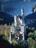 Neuschwanstein castle in autumn, Bavaria Photographic Print by Fridmar Damm