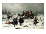 Prussian Uhlans Attacking French Zoaves, Franco Prussian War Giclee Print by Christian Sell