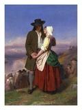 Evangeline and Gabriel Reproduction procédé giclée par John Faed