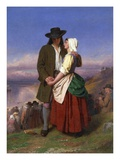 Evangeline and Gabriel Giclee Print by John Faed