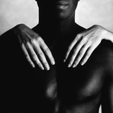 Woman's Hands Touching Man's Body Photographic Print by Blasius Erlinger