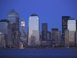 Skyline of Manhattan at Twilight Photographic Print by Alan Schein
