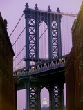 Manhattan Bridge, Empire State Building, New York City, USA Photographic Print by Alan Schein