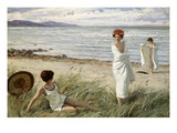 After the Swim at Hornbaek Beach, Denmark Giclee Print by Paul Fischer