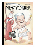 The New Yorker Cover - January 2, 2012 Regular Giclee Print by Barry Blitt