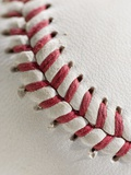 Lacing on Baseball Photographic Print by Tom Grill