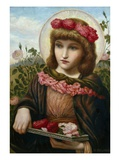 Dorothea and the Roses Giclee Print by Henry Ryland