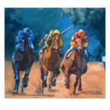 Race Horses Giclee Print