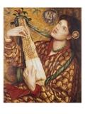 A Christmas Carol Giclee Print by Dante Gabriel Rossetti