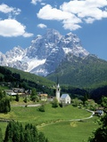 Selva di Cadore and Dolomite Alps Fotografisk tryk af José Fuste Raga