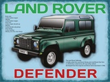 Land Rover Defender Plaque en métal