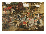 The Kermesse of St. George Lámina giclée por Pieter Brueghel the Younger