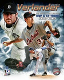 Justin Verlander 2011 AL MVP & Cy Young Winner Portrait Plus Photo