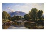 Henry Brittan Willis - Reflections of a Highland Landscape, Scotland Digitálně vytištěná reprodukce