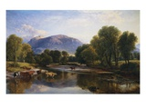 Reflections of a Highland Landscape, Scotland Lámina giclée por Henry Brittan Willis