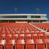 Empty Football Stadium Seats Photographic Print by Robert Michael