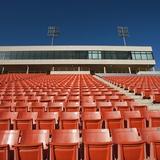 Empty Football Stadium Seats Photographic Print by Robert Michael