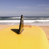 Lifeguard's Surfboard on Beach Photographic Print by Sam Diephuis