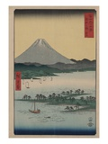 Pine Beach at Miho in Suruga Giclee Print by Ando Hiroshige