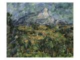 Landscape of Aix, Mont Sainte-Victoire Giclee Print by Paul Cézanne