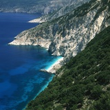 Steep coast on Kefalonia, Greece Photographic Print by Volkmar Brockhaus
