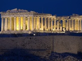 Athens Parthenon at Dusk Photographic Print by Richard Nowitz