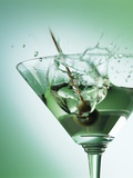 Martini with Olive Splash Photographic Print by Steve Lupton