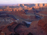 USA, Utah, Dead Horse Point State Park, Colorado River, Goose Neck at sunrise Photographic Print by Theo Allofs