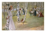 Breakfast in the Open Giclee Print by Carl Larsson
