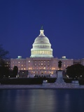 Illuminated Capitol at night, Washington D.C. Photographic Print by Murat Taner