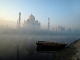 Landscape view of The Taj Mahal, Agra, Uttar Pradesh, India Photographic Print