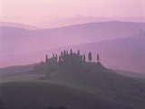 House at dawn in the Tuscany Photographic Print by Guenter Rossenbach