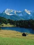 Lake 'Geroldsee' and the so called 'Karwendel' mountains Photographic Print by Oswald Eckstein