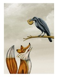 The fox and the crow Giclee Print by Alberto Ruggieri