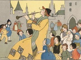 All the Little Boys and Girls in Hamelin Followed the Pied Piper Photographic Print by Margaret Evans Price