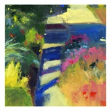 Whitney's Garden Giclée-tryk af Lou Wall