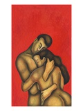Surreal Couple Embracing Giclee Print by Alberto Ruggieri