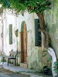 House in the village Vessa on Chios, Greece Photographic Print by Rainer Hackenberg