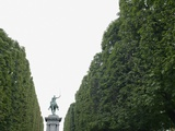 Equestrian statue between trees, Paris, France Photographic Print by Gregor Schuster