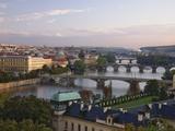 Bridges Crossing the Vltava Photographic Print by William Manning