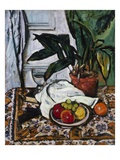 Aspidistra Premium Giclee Print by George Leslie Hunter