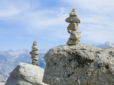 Cairns on Top of Rocks Photographic Print by Tim Mcguire