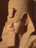 Head of a statue in Abu Simbel - Egypt Photographic Print by  Claudius