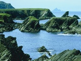 Rocky coast at Slea Head, Dingle, Ireland Photographic Print by W. Krecichwost